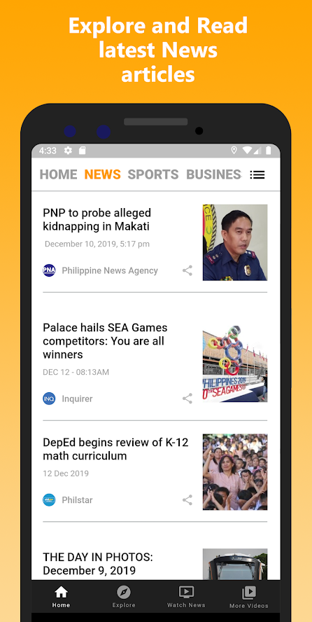 Philippine Daily News on PC