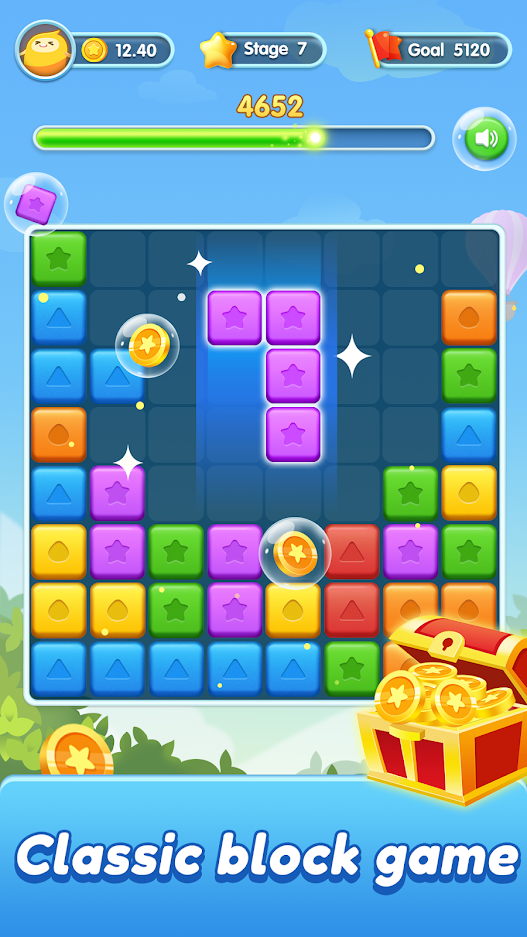 Block Crush-Classic Color Block Game on PC