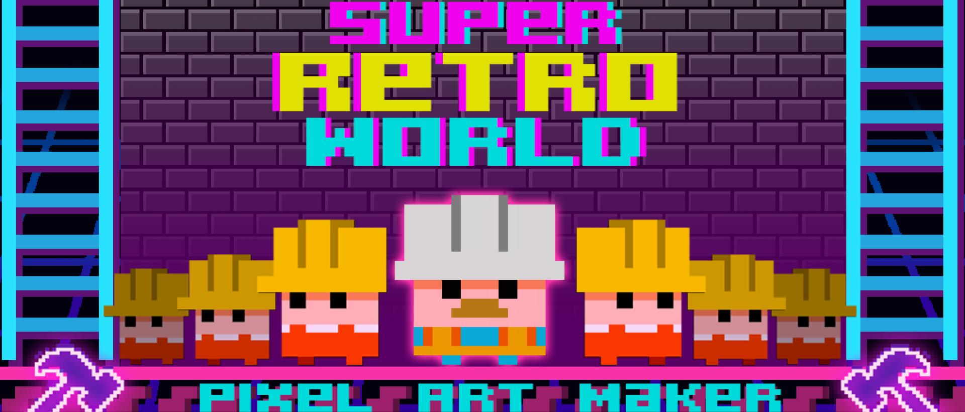 Super Retro World: Pixel Art Maker
