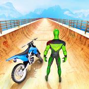 Mega Rampa Motor Oyunu: Truco de Moto de Carrera