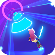 Smash Colors: Neon Cyber Surfer Free Music Game