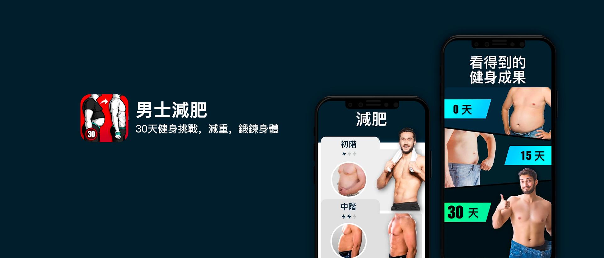 男士減肥:30天健身挑戰,減重,鍛鍊身體